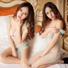 【情趣内衣】绿光仙子 女式性感钢托情趣内衣套装透视制服极度诱惑 真人买家秀9800