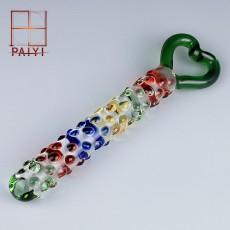 【女用器具】水晶阳具爱情密钥 玻璃女用自慰器假阳具