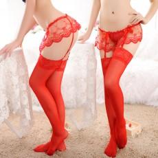 【情趣丝袜】套装吊带连体丝袜连身网袜8407