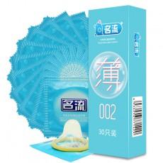 名流 至薄002超薄安全套30只装避孕套 成人性用品