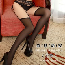 蜜恪长筒袜高筒日系情趣丝袜女迷人超薄性感脚尖透明闪光丝袜8199