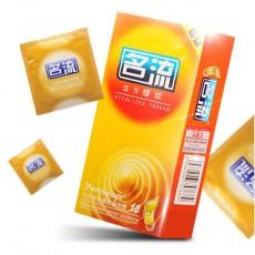 名流安全套 避孕套 活力螺纹10只装 凸点 螺纹薄安全套 计生用品