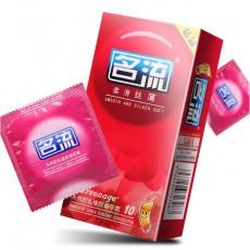 名流避孕套 柔滑丝薄10片 天然乳胶安全套 超薄成人情趣用品