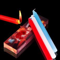 情趣用品低温蜡烛(长)3支装 蓝白红三色蜡烛 另类玩具香味滴蜡