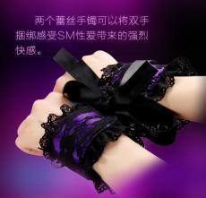 蕾丝眼罩手铐3件套 组合套装 性用品调情玩具
