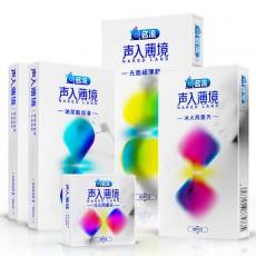 【避孕套】名流声入薄境光面超薄玻尿酸冰火两重天3只装10只装