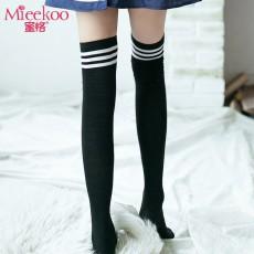 【情趣内衣】蜜恪条纹学生长筒袜5197