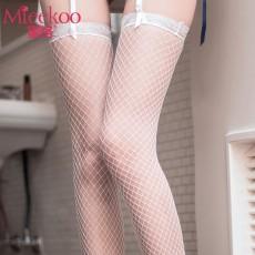 【情趣内衣】蜜恪蕾丝花边长筒袜网袜5193