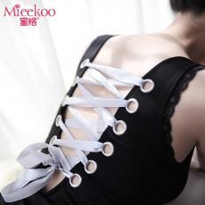 【情趣内衣】蜜恪 蕾丝领裸背缎带 8338