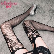 【情趣内衣】蜜恪 吊带一体袜烫钻(不含内裤) 5205