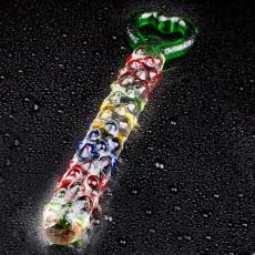 【女用器具】幻遇 水晶阳具爱情密钥 玻璃女用自慰器假阳具