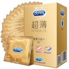 【避孕套】杜蕾斯超薄尊享三合一18只装