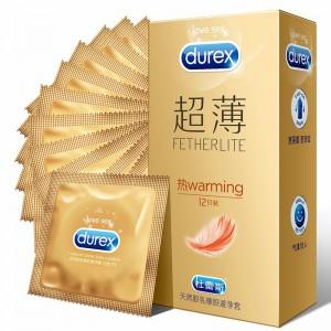 【避孕套】杜蕾斯热感超薄装3只装12只装