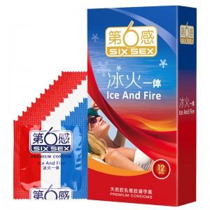 【避孕套】第六感冰火一体3/12只装