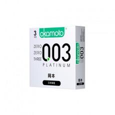 【避孕套】冈本0.03系列 白金超薄3只装