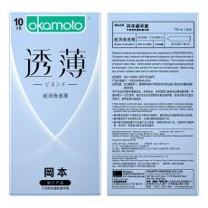 【避孕套】冈本透薄系列 超润滑透薄10只装