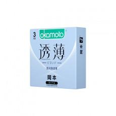 【避孕套】冈本透薄系列 超润滑透薄3只装