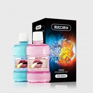 【情趣用品】交悦莞式口交水瓶装80ml*2草莓套装 香橙套装  水蜜桃套装