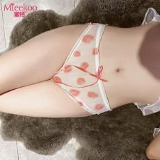 【情趣内衣】蜜恪 日系唯美蕾丝印花 淡粉草莓内裤大号 2206