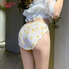 【情趣内衣】蜜恪 日系唯美蕾丝印花 菠萝内裤 2208