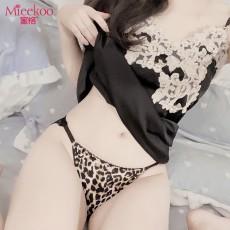【情趣内衣】蜜恪 蕾丝透明臀内裤豹纹2218