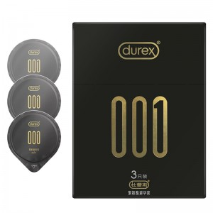 【避孕套】杜蕾斯001超薄3只/6只装
