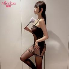 【情趣内衣】蜜恪蝴蝶结提花连体衣6012