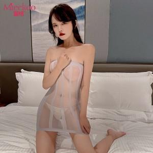 【情趣内衣】蜜恪条纹裹胸包臀裙6015