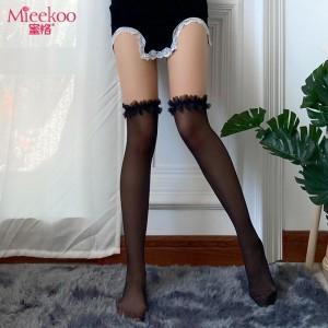 【情趣内衣】蜜恪皱折花边丝袜5101