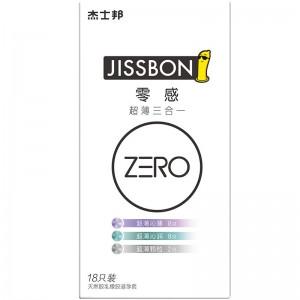 【避孕套】杰士邦ZERO零感超薄三合一18只装