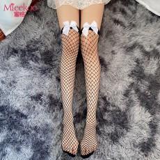 【情趣丝袜】蜜恪蝴蝶结网袜5301