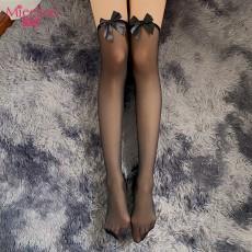 【情趣丝袜】蜜恪蝴蝶结过膝丝袜 5198