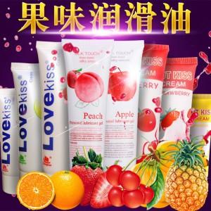 【情趣用品】正天润滑液LOVEKISS柠檬葡萄草莓HOTKISS香蕉樱桃苹果SILKTOUCH水蜜桃
