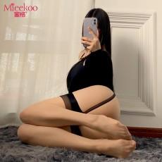 【情趣内衣】蜜恪蕾丝一体式吊带袜 4409