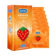 【避孕套】杜蕾斯草莓果味装12只装