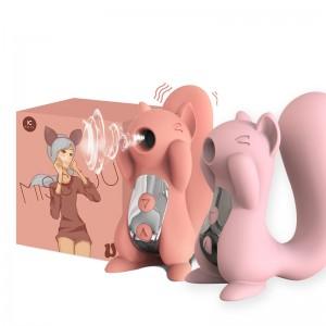【女用器具】KissToy松鼠MISS UU吮吸按摩器可爱跳蛋女用口爱情趣自慰器