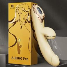 【女用器具】KISSTOY A-KING Pro加温吮吸震动棒液晶数字屏显女用自慰按摩器
