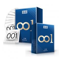 【避孕套】名流001聚氨脂避孕套1只3只装 非乳胶超薄001安全套 无感套空气套