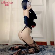 【情趣内衣】蜜恪吊带一体袜黑色(不含内裤)4253