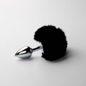 【情趣用品】sm兔尾巴金属肛塞